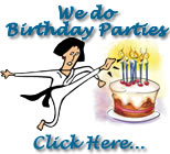 Birthday Parties at Master Brown's Karate School